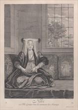Novi, ou Fille Grecque dans la ceremonie du Mariage, 1714-15. Creator: Unknown.