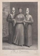 Fille Armenienne, que l'on conduit à l'Eglise pour la marier, 1714-15. Creator: Unknown.