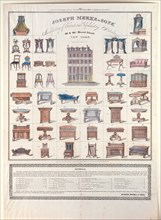 Joseph Meeks & Sons' Manufactory of Cabinet and Upholstery Articles, 1833. Creator: Joseph Meeks & Sons.