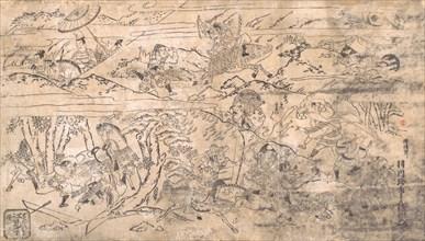 Battle scene, late 17th-early 18th century. Creator: Hanekawa Chincho.
