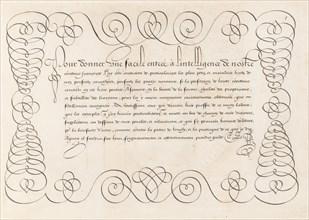La Technographie. La Rizographie. La Caligraphie, 1599. Creator: Simon Wynhoutsz Frisius.