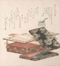 Table and Writing Set, 19th century. Creator: Kubo Shunman.