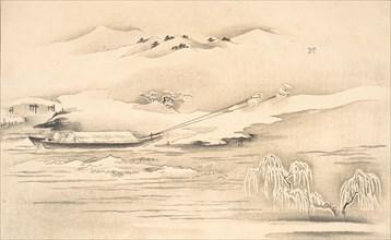 Book of Ehon Ginsekai (The World in Silver), late 18th-early 19th century. Creator: Kitagawa Utamaro.