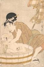 Bathtime (Gyozui), ca. 1801. Creator: Kitagawa Utamaro.