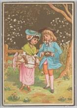 Valentine, ca. 1880. Creator: Catherine Greenaway.