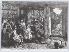 """The Dame's Absence, from """"Illustrated London News"""", July 4, 1857. Creator: Harvey Orrin Smith."""