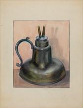 Lamp, 1935/1942. Creator: Albert J. Levone.