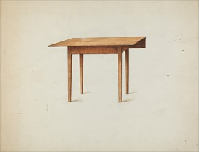 Shaker Drop-leaf Table, c. 1936. Creator: Ray Holden.
