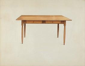 Shaker Kitchen Table, c. 1936. Creator: Ray Holden.