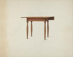 Shaker Table, c. 1936. Creator: Ray Holden.