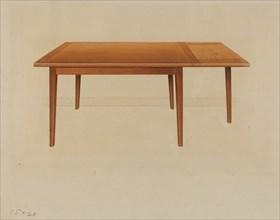 Table, c. 1937. Creator: Anne Ger.
