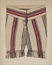 Boy's Pants, c. 1937. Creator: Florence Huston.