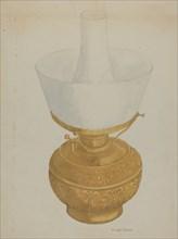 Lamp, c. 1937. Creator: Cora Parker.