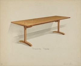 Shaker Trestle Dining Table, 1935/1942. Creator: Anne Ger.