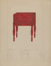 Writing Desk and Table, 1935/1942. Creator: Henry Meyers.