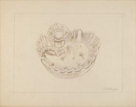 Candle Holder, c. 1937. Creator: Thomas Holloway.
