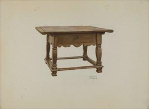 Pa. German Table, c. 1937. Creator: Frances Lichten.