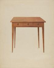 Table, c. 1938. Creator: John W Kelleher.