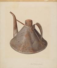 Spouted Oil Can, c. 1938. Creator: Lloyd Charles Lemcke.