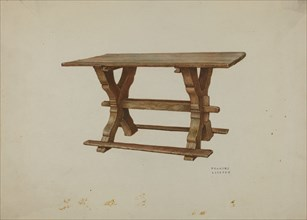 Pa. German Table, c. 1938. Creator: Frances Lichten.