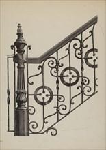 Iron Fence, c. 1936. Creator: Florence Huston.