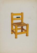 Church Chair, c. 1936. Creator: Florence Huston.
