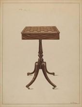 Checker Table, 1936. Creator: Nicholas Gorid.