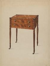 Work Table, c. 1936. Creator: Bernard Gussow.