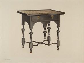 Tea Table, 1940. Creator: Charles Henning.