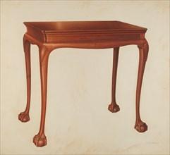 Table, 1941. Creator: Isadore Goldberg.