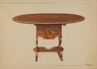 Tip Table (Hutch), c. 1936. Creator: Nicholas Gorid.