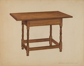 Tavern Table, c. 1936. Creator: Arthur Johnson.