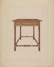 Table, c. 1937. Creator: Frederick Jackson.