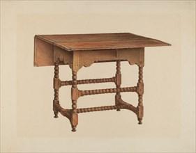 Drop-leaf Table, c. 1938. Creator: Isadore Goldberg.