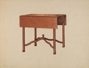 Pembroke Table, c. 1938. Creator: Henry Granet.