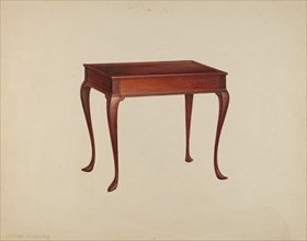 Tea Table, c. 1939. Creator: Isadore Goldberg.