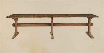 Trestle Table, c. 1939. Creator: Isadore Goldberg.