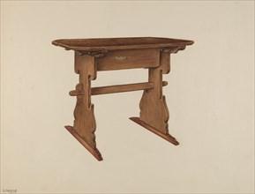 Trestle Table, c. 1939. Creator: Charles Henning.