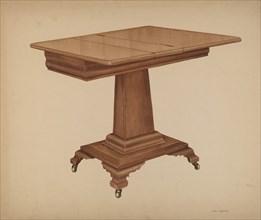 Table (pedestal), c. 1940. Creator: LeRoy Griffith.