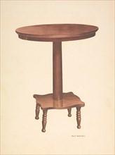 Round Top Table, c. 1940. Creator: Violet Hartenstein.