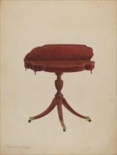 Table Pedestal, c. 1940. Creator: Bernard Krieger.