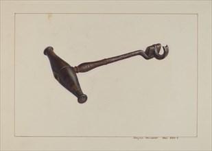 Turn Key Tooth Extractor, c. 1938. Creator: Regina Henderer.