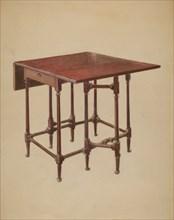 Table (Drop-leaf), c. 1936. Creator: Bernard Gussow.