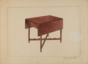 Drop-Leaf Table, 1936. Creator: Henry Granet.