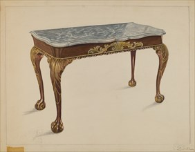 Pier Table, c. 1936. Creator: Nicholas Gorid.