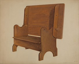 Settle-table, c. 1936. Creator: Arthur Johnson.