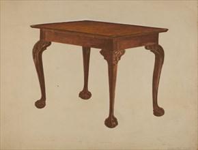 Tea Table, c. 1936. Creator: Bernard Krieger.