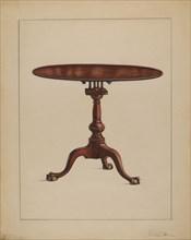 Tilt-top Table, c. 1936. Creator: Rolland Livingstone.