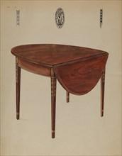 Pembroke Table (Drop Leaf), 1935/1942. Creator: Bernard Gussow.