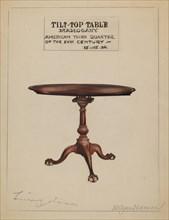 Tilt-top Table, 1935/1942. Creator: Holger Hansen.
